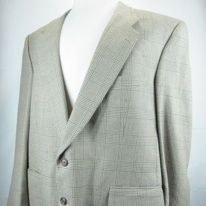 Burberry Blazer Glen Plaid Custom Wool 2-Button